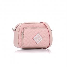 Γυναικεία τσάντα καπιτονέ χιαστί Pierro Accessories 90623KPT50 Nude