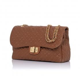 Γυναικεία τσάντα ώμου καπιτονέ Pierro Accessories 90596KPT11 Ταμπά