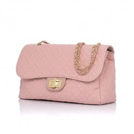 Γυναικεία τσάντα ώμου καπιτονέ Pierro Accessories 90596KPT50 Nude