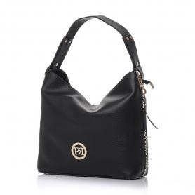Γυναικεία τσάντα ώμου Pierro Accessories 90607DL01 Μαύρο