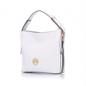 Γυναικεία τσάντα ώμου Pierro Accessories 90607DL07 Λευκό