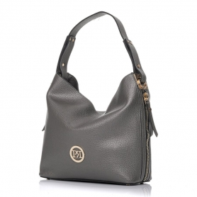 Γυναικεία τσάντα ώμου Pierro Accessories 90607DL28 Ατσάλι
