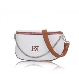 Γυναικείο τσαντάκι μέσης Pierro Accessories 90616DL07 Λευκό