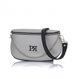 Γυναικείο τσαντάκι μέσης Pierro Accessories 90616DL22 Ασημί