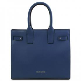 Γυναικεία Τσάντα Δερμάτινη Catherine TL141933-Μπλε σκούρο