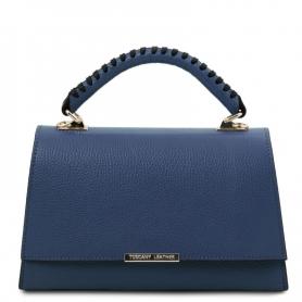 Γυναικεία Τσάντα Δερμάτινη TL142111-Μπλε σκούρο