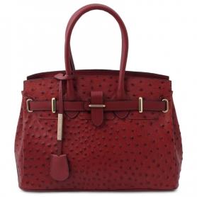 Γυναικεία Τσάντα Δερμάτινη TL142120-Κόκκινο