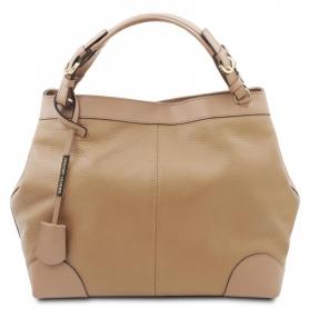 Γυναικεία Τσάντα Δερμάτινη TL142143-Σαμπανιζέ