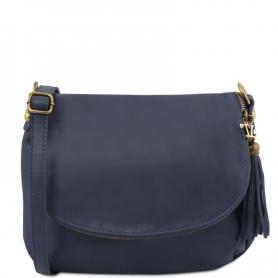 Γυναικεία Τσάντα Δερμάτινη TL141223-Μπλε σκούρο