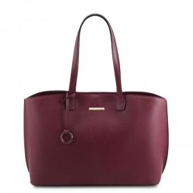 Γυναικεία Τσάντα Ώμου Δερμάτινη TL141828-Μπορντώ