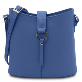 Γυναικεία Τσάντα Ώμου Δερμάτινη Teti TL141901-Μπλε