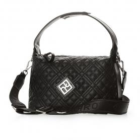 Καπιτονέ Τσάντα Χειρός Pierro Accessories 90628KPT01 Μαύρο